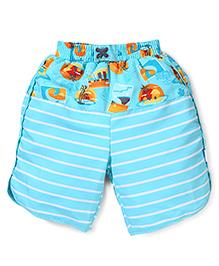I Play Stylish Shorts - Aqua Blue