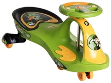 Toyzone Ben 10 Magic Swing Car Green 79 x 36 x 39 cm, Green Steering, Ride will be fun with this car