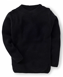 Babyhug Full Sleeves Plain Solid Color Sweater - Black