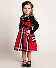 Designs by Meghna Plaid Dress - Red