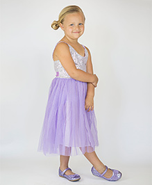 Designs by Meghna Sleeveless Dress -  Light Purple