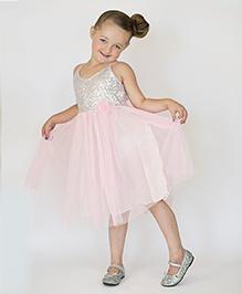 Designs by Meghna Sleeveless Dress - Light  Pink