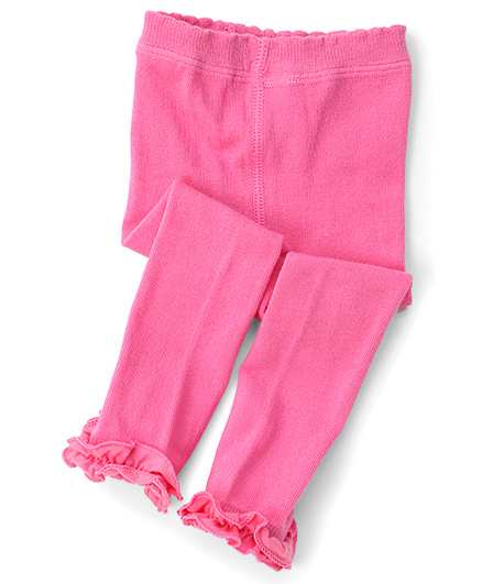 Jefferies Socks With Ruffles Tights - Pink
