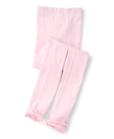 Jefferies Socks With Ruffles Tights - Light Pink