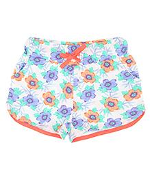 Eimoie Girls Floral Print Shorts - Multicolour