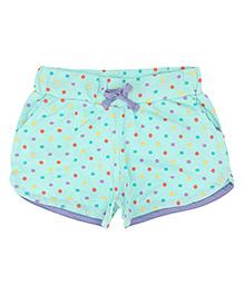 Eimoie Girls Dot Print Shorts - Sky Blue