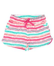 Eimoie Girls Stripe Print Shorts - Multicolour