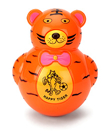 Smart Picks Roly Poly Happy Tiger Toy - Orange