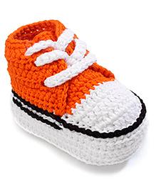 Jefferies Socks Fancy Booties - Orange