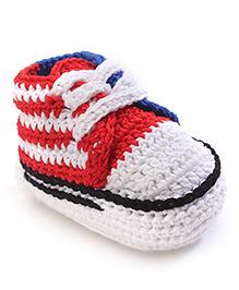 Jefferies Socks Fancy Booties - Red