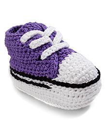 Jefferies Socks Fancy Booties - Purple