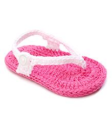 Jefferies Socks Fancy Flip Flops - White