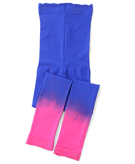 Jefferies Socks With Ruffles Footless Tights - Blue & Pink