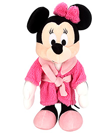 Disney Bedtime Minnie Mouse In Robe - Pink