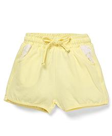 Cucumber Drawstring Shorts - Yellow