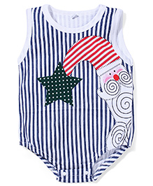Superfie Attractive & Stylish Onesie - White & Navy Blue