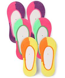 Jefferies Socks Pack Of 3 Split Footie - Multicolour