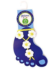Jefferies Socks Floral Design Barefoot Sandals - White