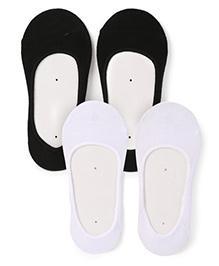 Jefferies Socks Pack Of 2 Split Footie - Black & White