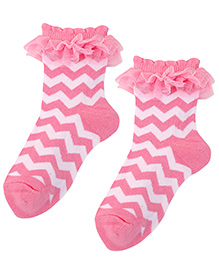 Jefferies Socks Stripe Design Treat Socks - Pink