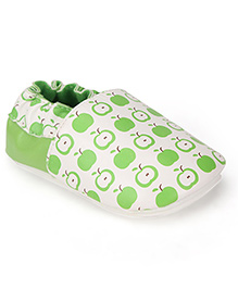 juDanzy Apple Print Shoes - Green & White