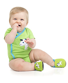 juDanzy Animal Print Shoes - Green