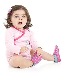 juDanzy Polka Dot Print Shoes - Pink & Blue