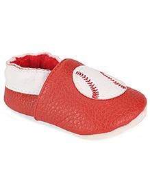 juDanzy Baseball Print Shoes - Maroon