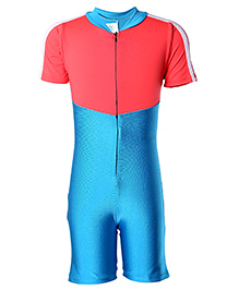 Rovars Half Diving Suit - Red And Blue