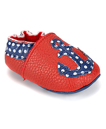 juDanzy Anchor Print Shoes - Red