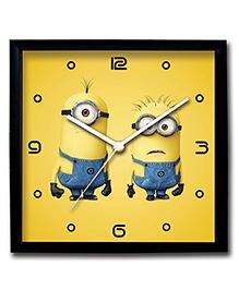 Stybuzz Wall Clock Minions Print - Yellow