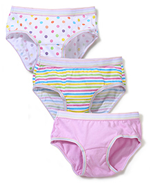 Babyhug Printed Panties Set of 3 - Multi Color