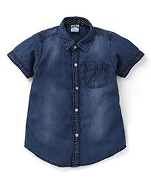 Babyhug Half Sleeves Denim Shirt - Light Blue