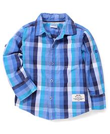 Babyhug Full Sleeves Shirt Checks Print - Blue