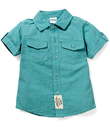 Babyhug Half Sleeves Solid Color Shirt - Green