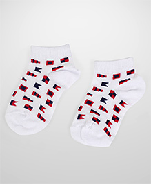 Jefferies Socks Flag Print Socks - White