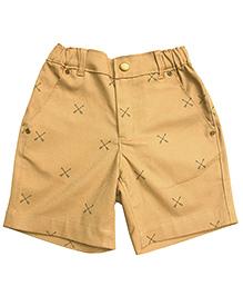 Campana Shorts All Over Arrow Print - Khaki