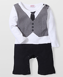 Adores Baby Romper - White & Black