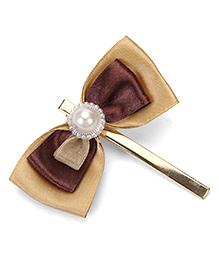 Sugarcart Princess Bow Hair Clip - Golden