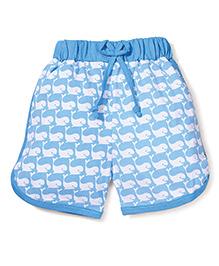 Fido Dolphin Print Shorts - Blue