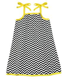 A.T.U.N. Sarah Dress Chevron Print  - Black & Yellow