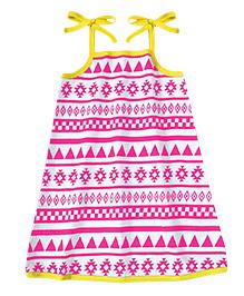 A.T.U.N. Sarah Dress Aztec Print - Pink & Yellow