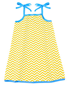 A.T.U.N. Sarah Dress Chevron Print  - Yellow & Blue