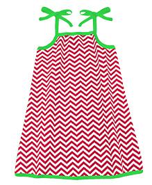 A.T.U.N. Sarah Dress With Chevron Print  - Red & Green