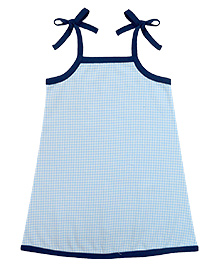 A.T.U.N. Sarah Dress With Gingham Pattern - Blue