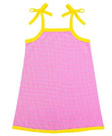 A.T.U.N. Sarah Dress With Gingham Pattern - Pink