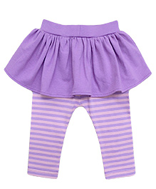 A.T.U.N. Peplum with Striped Legging - Lilac & Pink
