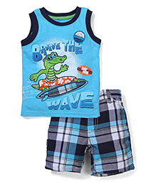 Little Rebels 2 Piece T-Shirt & Shorts Set - Blue
