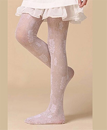 Cherry Blossoms Floral Stockings - Pink