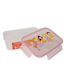 Sugar Booger Princess Print Lunch Box - Light Pink & White